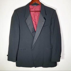 Yves Saint Laurent Suit Blazer Jacket 46R Black